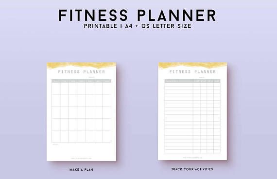 Get control of your health and fitness with this great printable bundle! This bundle includes a health tracker to track all health aspects of your life, as well as a meal planner with grocery list, a fitness tracker where you can plan and record your workouts and a vitamins/medicine planner. They all come in a minimalist design to leave space for your life, while giving you a nice framework. Included in purchase - 2 zip files in A4/A5 and US letter size with health tracker, fitness...