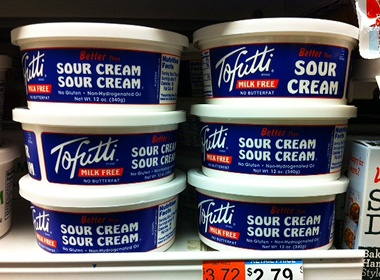 Tofutti Better Than Sour Cream at a Whole Foods in West Hartford, Connecticut - https://www.facebook.com/photo.php?fbid=587222917962131=a.192319737452453.46978.148368278514266=1
