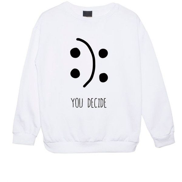 MLSHOPSS You Decide Sweater Jumper Funny Fun Tumblr Hipster Swag... ($22) ❤ liked on Polyvore featuring tops, shirts, black, sweatshirts, women's clothing, crop top, grunge shirts, black star shirt, black crop top and gothic shirts