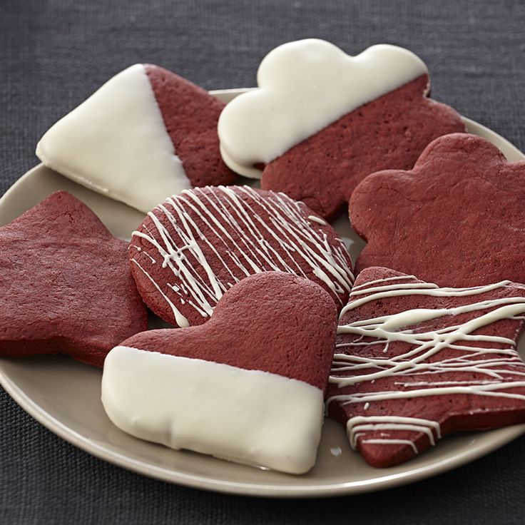 This holiday add a new cookie to your repertoire – make cookie cut-outs using a chocolate red dough instead of a plain sugar cookie dough.