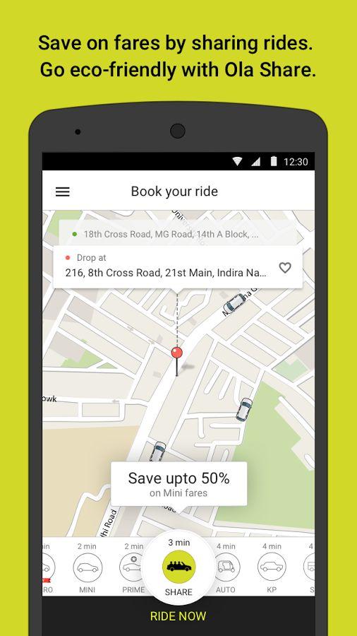 Ola cabs - Book taxi in India- screenshot