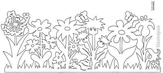 Вырезание, Вытынанка: Цветочные полянки фото 4