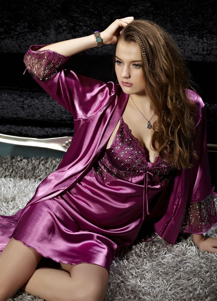 Sexy lingerie robe lavender