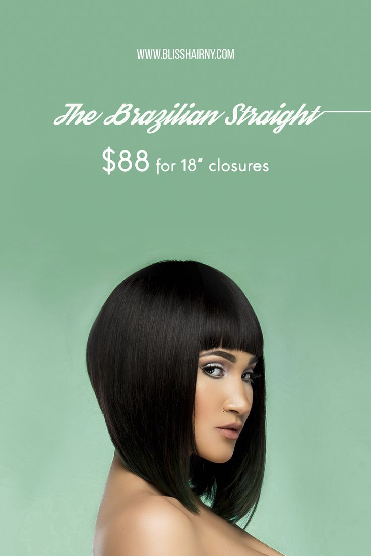 """Full body, beautiful bounce, texture and versatility of the Brazilian straight hair is what makes it stand out. Prices start at $60 for a 10"""" closure at www.blisshairny.com #hair #extensions #hairstyles #fashion"""
