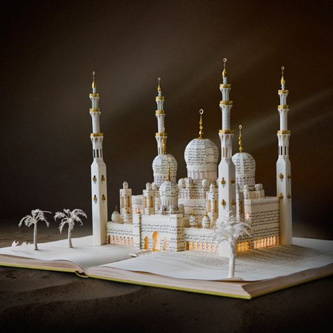 """""""Untitled"""" Book Sculpture by Su Blackwell, 2013. Commissioned by The Fairmont Hotel of Abu Dhabi, located in the United Arab Emirates (UAE)."""