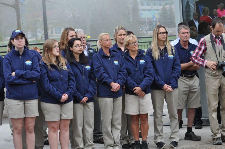 Hornblower Niagara Cruises staff during the Hornblower Niagara Cruises Ribbon Cutting Ceremony