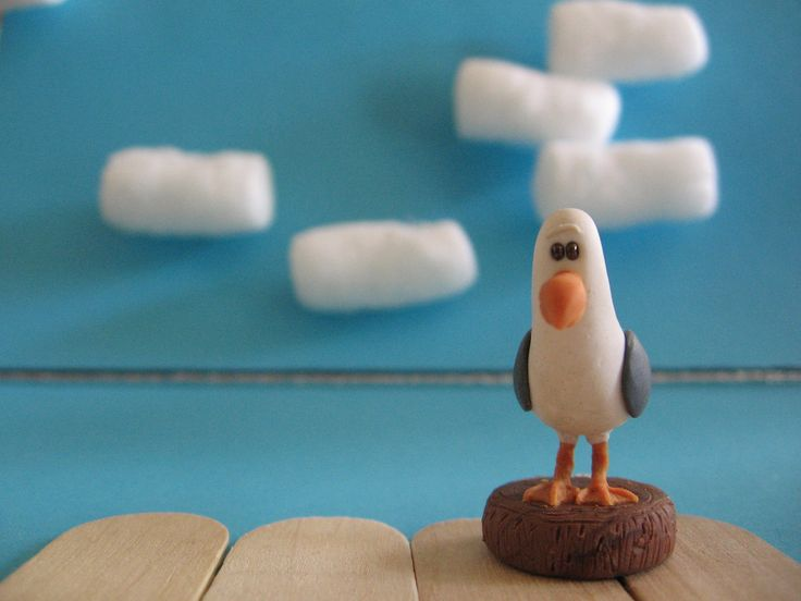 Finding Nemo, Polymer Clay, Seagull figurine. $15.00, via Etsy.