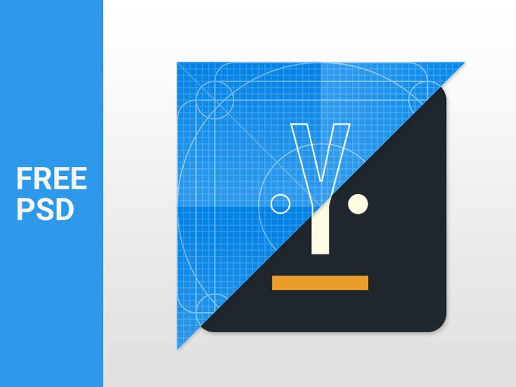 Material Design Icon Template - Freebie PSD by Anton Kosolapov for Yalantis