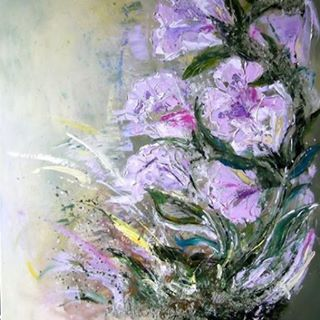 Cassie Barwell @cassiebarwell Instagram photos | Websta (Webstagram) Pink flowers abstract painting