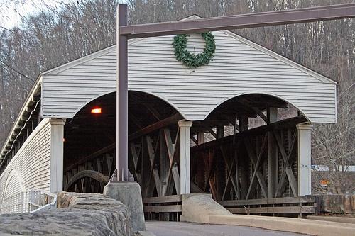 Covered bridge at Phillipi, West Virginia