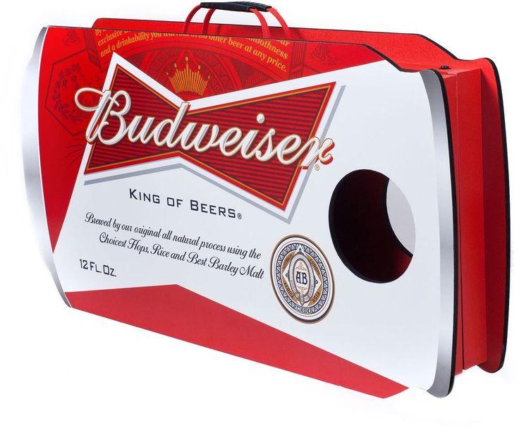 Budweiser Can Cornhole Bean Bag Toss Game Outdoor indoor Cornhole Game Set New #TrademarkGames #BeanBag #Game #Budweiser #Can