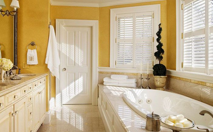 Sunny yellow luxury: a new look at the interior of bathrooms. More information: http://wonderdump.com/sunny-yellow-luxury-a-new-look-at-the-interior-of-bathrooms/