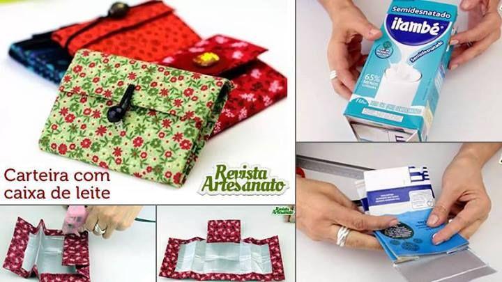 carteiras com caixa de leite
