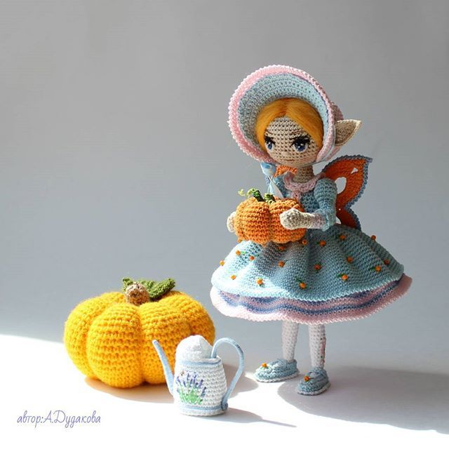 Best  Adudakova Dolls  Images On   Crochet Doll