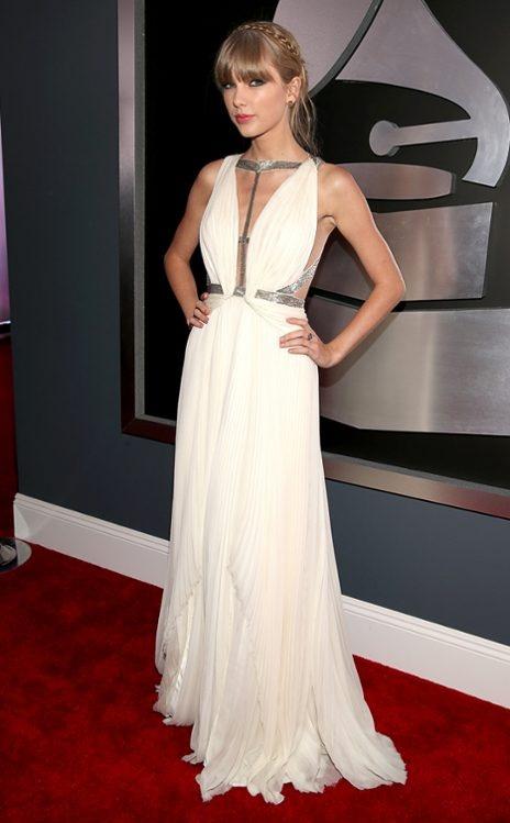 Taylor Swift in J. Mendel. Grammys