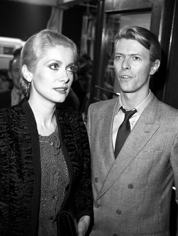 Catherine Deneuve et David Bowie en 1986.