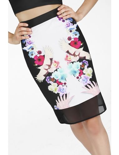 Soaring Crane Pencil Skirt | Shes Electric sheselectric.com $99.95
