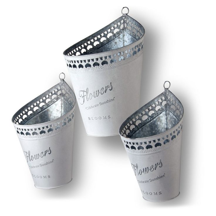 3-Pc Decorative Pot Assortment Silver - National Tree Company, Light Silver