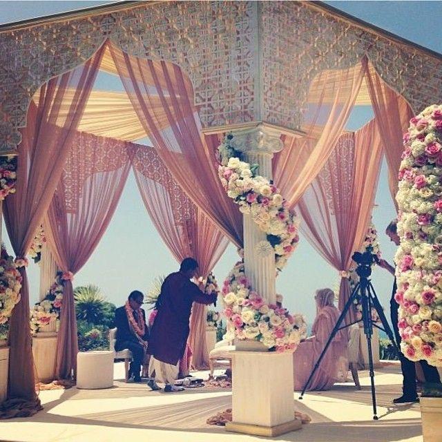Preparation Of An Indian Wedding Venue Indianwedding Special Flowers Beautiful ThemesWedding DecorationsWedding