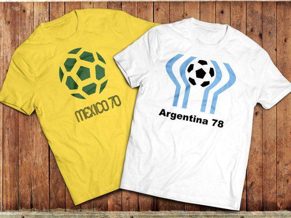 Retro World Cup T-Shirt, Argentina 78, Mexico 70, Vintage Football shirt #worldcup #mexico1970 #Argentina1978 #football