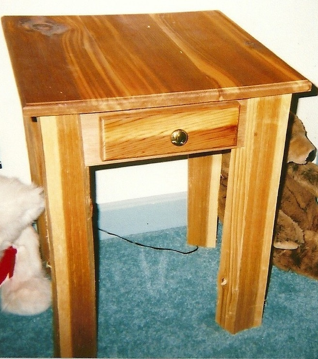 cedar night stands woodworking projects plans. Black Bedroom Furniture Sets. Home Design Ideas