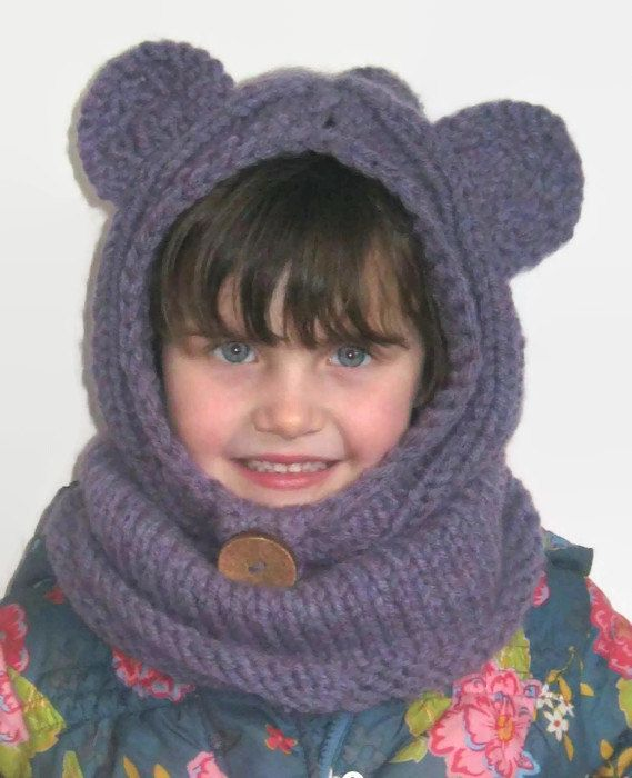 Check out this item in my Etsy shop https://www.etsy.com/uk/listing/205888690/bear-snood-bear-hat-knitted-cowl-knitted