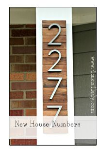 "Genius! I have these numbers for our house. What a great way to ""install"" them!! DIY / Projects - 4 Men 1 Lady"