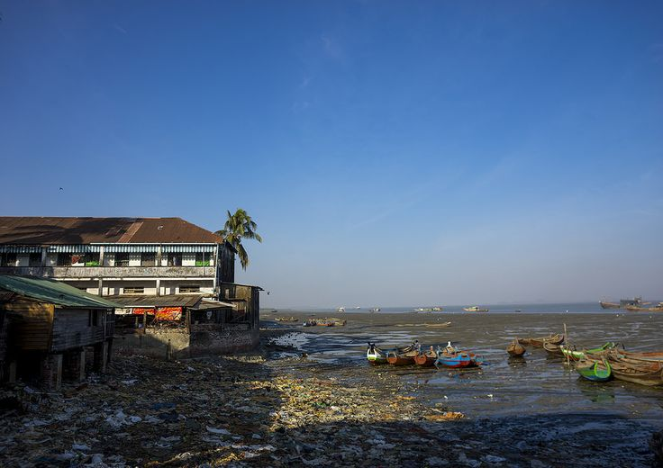 The Harbour At The Mouth Of Kaladan River, Sittwe, Myanmar   by Eric Lafforgue