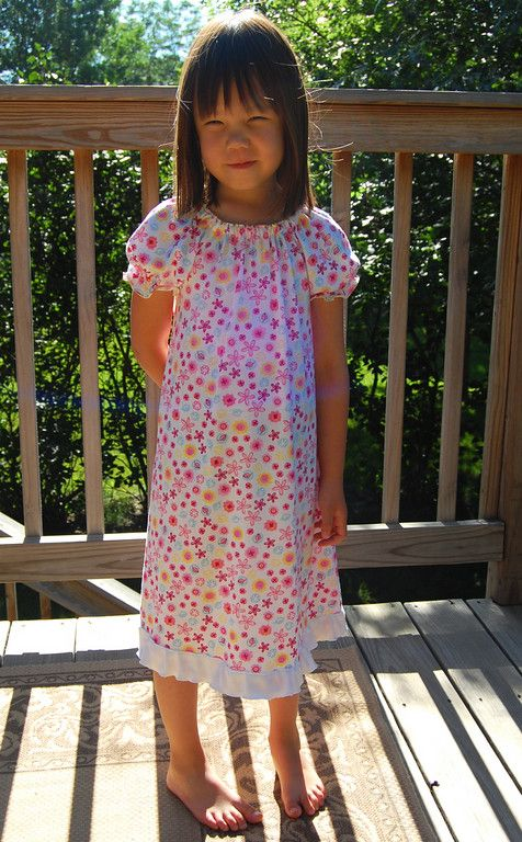 The Raglan Sleeve Dress or 45-minute Nightdress- made the girls 4 nightgowns so far using this pattern.  It takes me a couple hours to make one, but still pretty quick and simple.