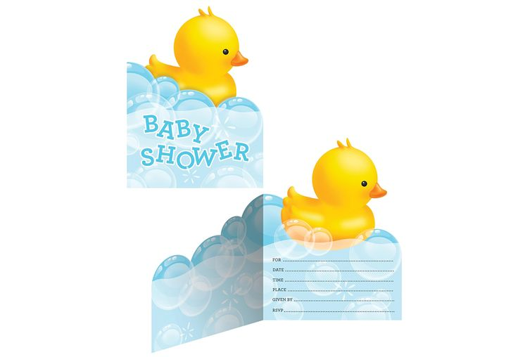 Divers INVITATION BABY SHOWER CANARD (8)