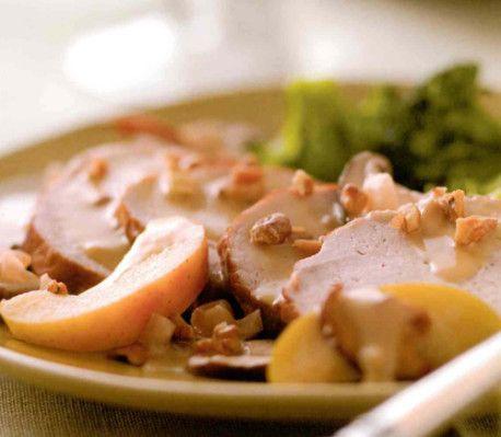 Skinkstek med äpple, cider och grädde recept - CrockPot.se