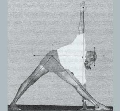 Trikonasana . sacred geometry