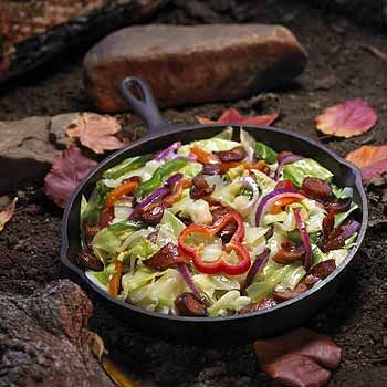 Car Camping Dutch Oven Cooking Meat Pepper Dinner