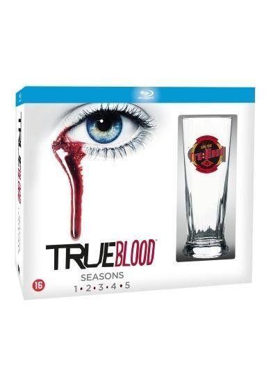 True Blood - Seizoen 1 t/m 5 (25Blu-rays) incl. Glas #trueblood #tvserie #tvseries #bluray #bluraydvd #limitededition #boxset