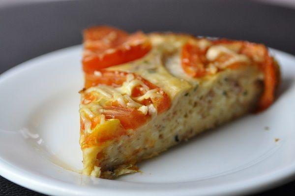 Quiche légère sans pâte au thon et à la tomate