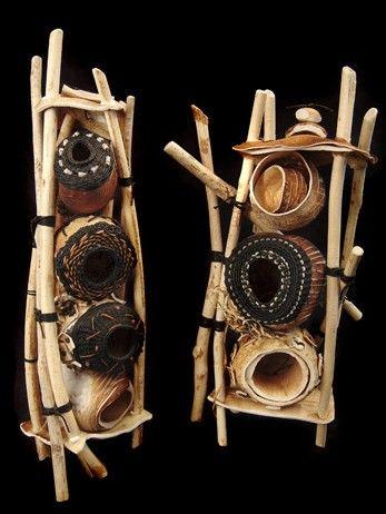 Basketry, Shannon Weber, Artist, Life Guard Towers, beaver sticks, kelp bulbs, beach glass, waxed linen