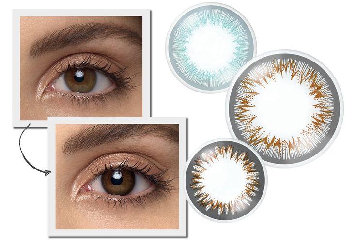 A lente de contato que realça os olhos,  sem alterar a cor, além de corrigir o grau (Foto:  Henrique Gendre / Arquivo Vogue, Thinkstock e Divulgação)
