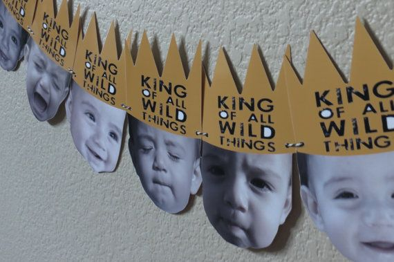 Where the Wild Things Are Party Photo Banner max crown