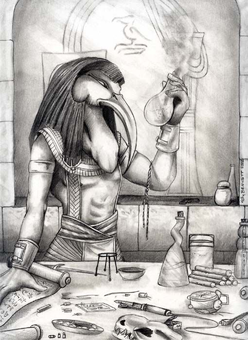 Alchemy:  The Seven Great Hermetic Principles ~ The Teachings of Thoth.  An #Alchemy artwork.