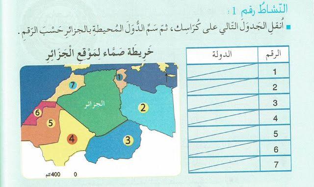 حل تمارين كتاب الجغرافيا للسنة الرابعة ابتدائي ص 92 Http Www Seyf Educ Com 2020 02 Solving Geography Book Exercises Page 92 4ap Html Geography Books Map