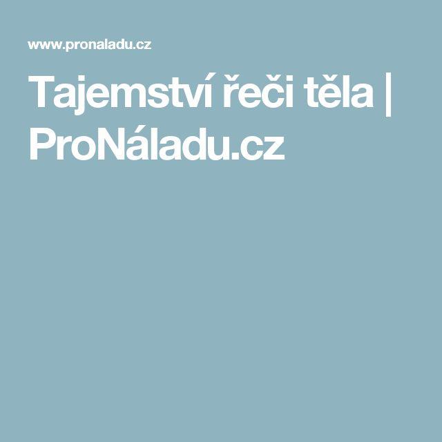Tajemství řeči těla   ProNáladu.cz