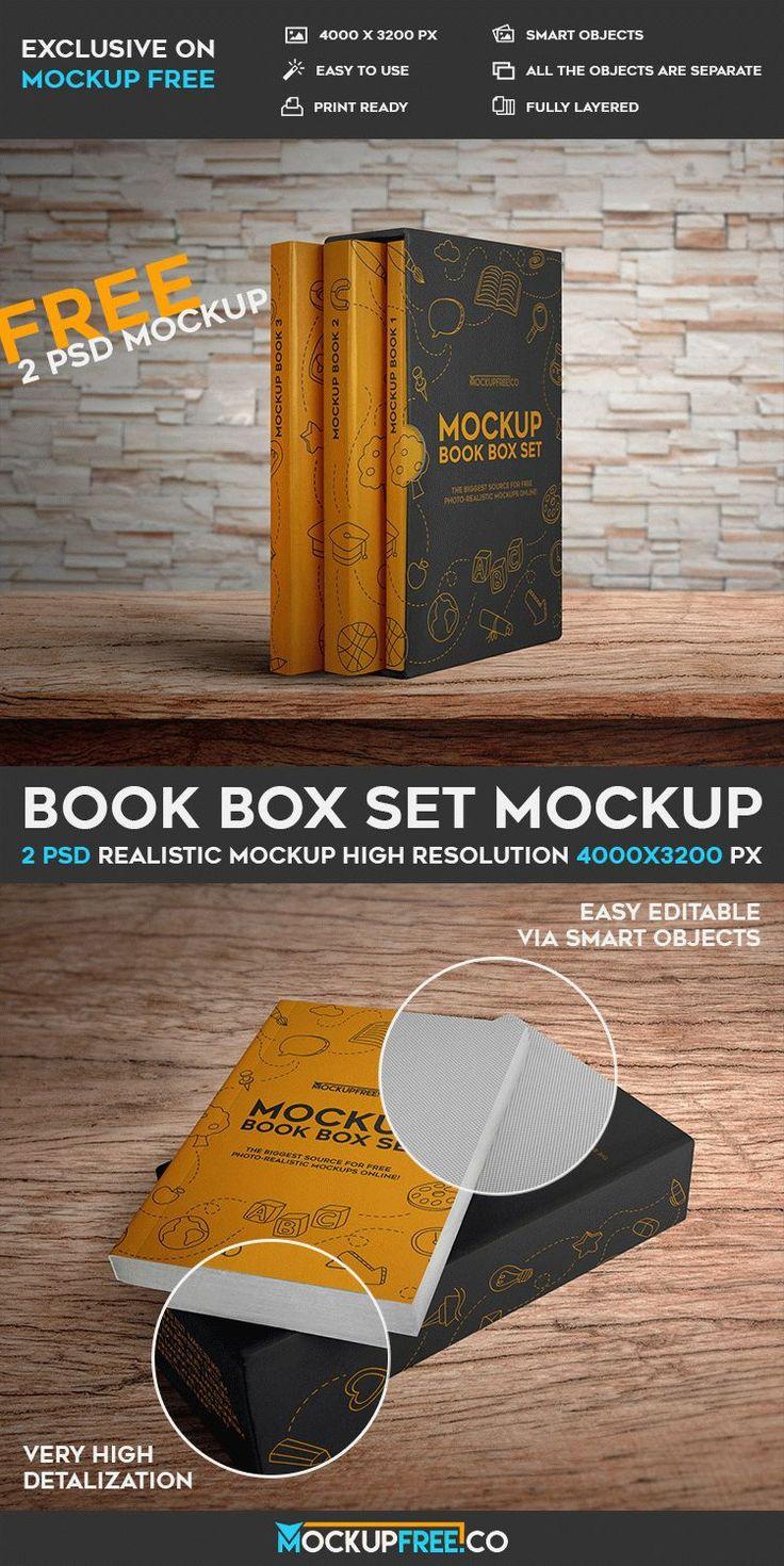 Book Box Set - Free PSD Mockup #free