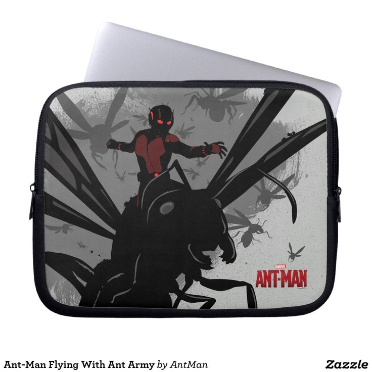 Ant-Man Flying With Ant Army Laptop Computer Sleeves. Regalos, Gifts. #fundas #sleeves