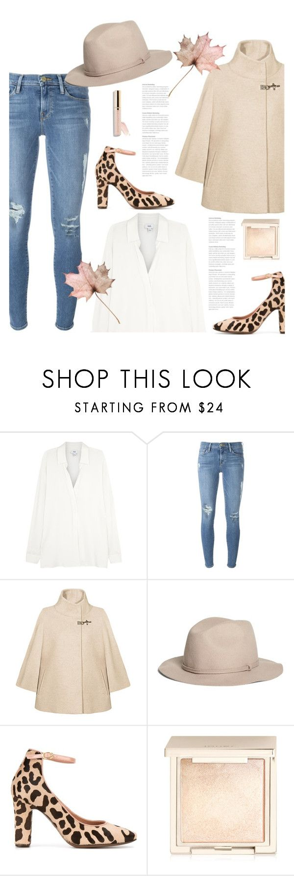 """""""10.10.16"""" by bliznec ❤ liked on Polyvore featuring Vince, Frame Denim, FAY, Brooks Brothers, L'Autre Chose, Jouer, Beautycounter and Fall"""