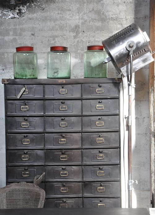 Industrial filing cabinet #industrial #decor
