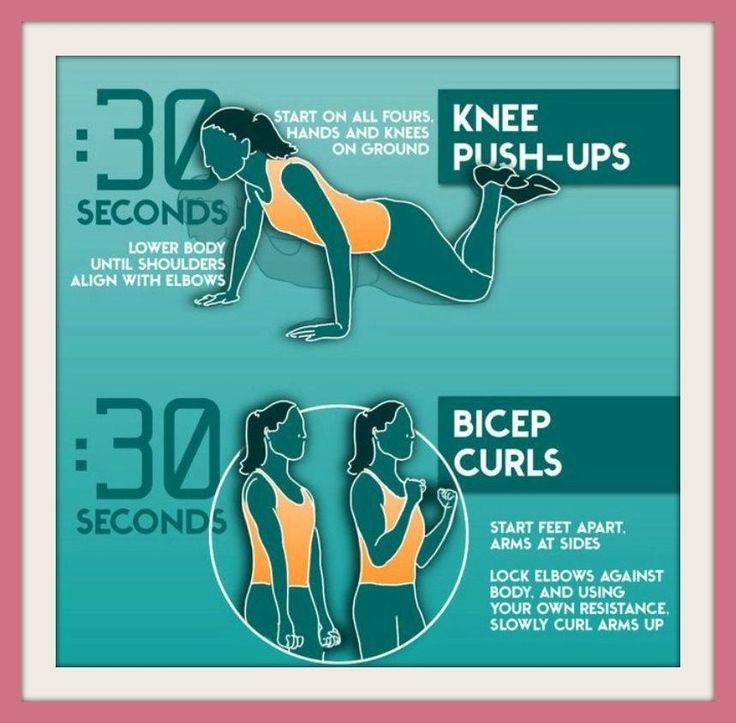 17 migliori idee su esercizi per le braccia su pinterest for Workout esterno coscia