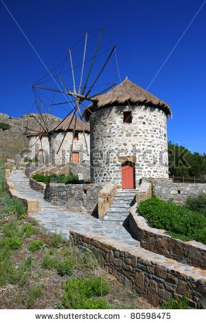 Windmills in Lemnos island  #Greece