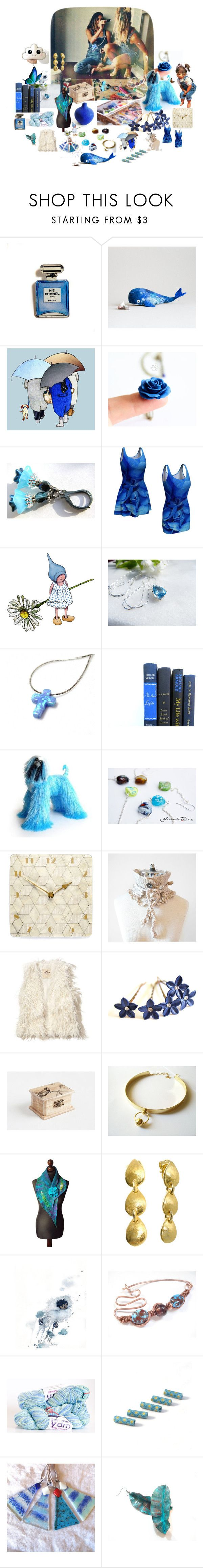 """Flea Market"" by treasury ❤ liked on Polyvore featuring Chanel and Hollister Co."