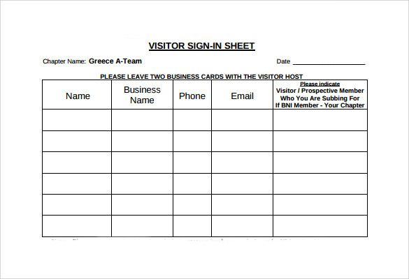 Visitor Sign In Sheet Template Check More At Https Nationalgriefawarenessday Com 30663 Visitor Sign In Sheet Template