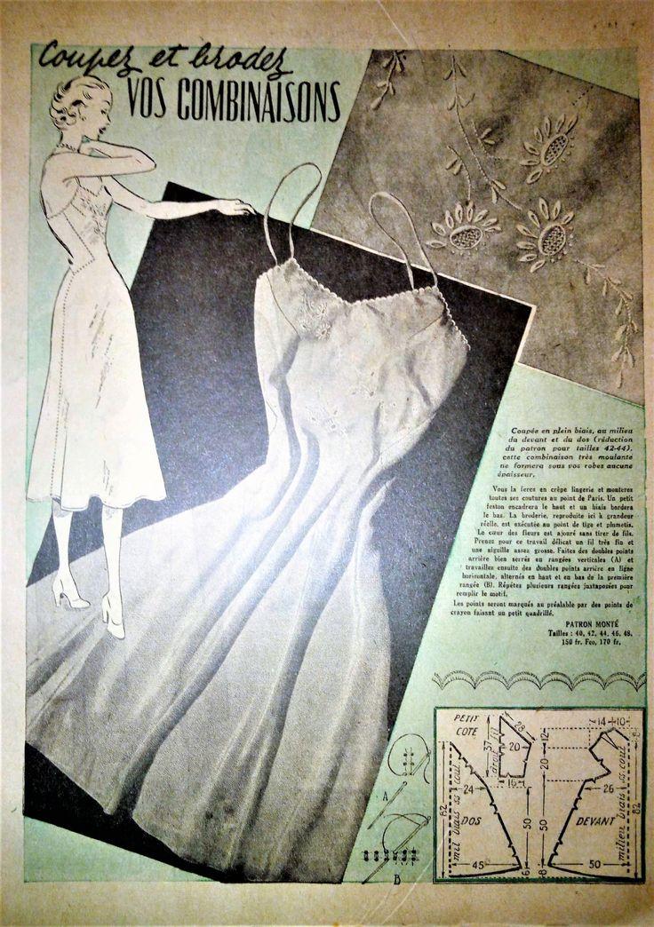 """Revue Vintage """"Le Petit Echo de la Mode""""1953 plusieurs patrons gratuits!"""